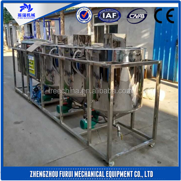 High efficient oil refinery/oil refinery machine/mini soya oil refinery plant