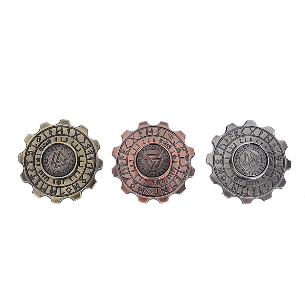 EDC Viking pirates hand spinner,High-end Finger Tip Gyro Kids finger Spinner Toy