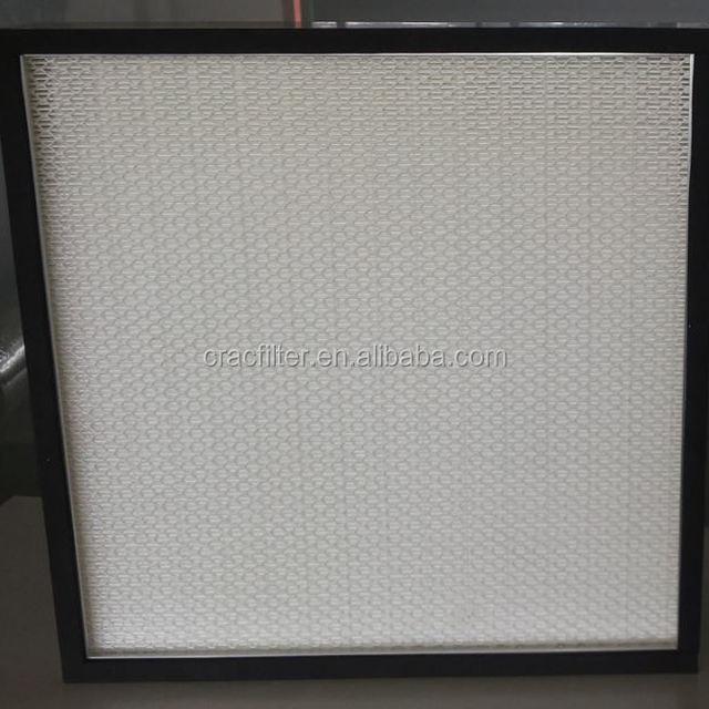 0.3um Disposable Fiberglass Media Mini-pleated HEPA Air Filter with Aluminium Frame H13 H14