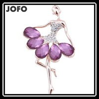 Manufacturers Selling Jewelry Dancing Ballet Girl Brooch Premium Corsage
