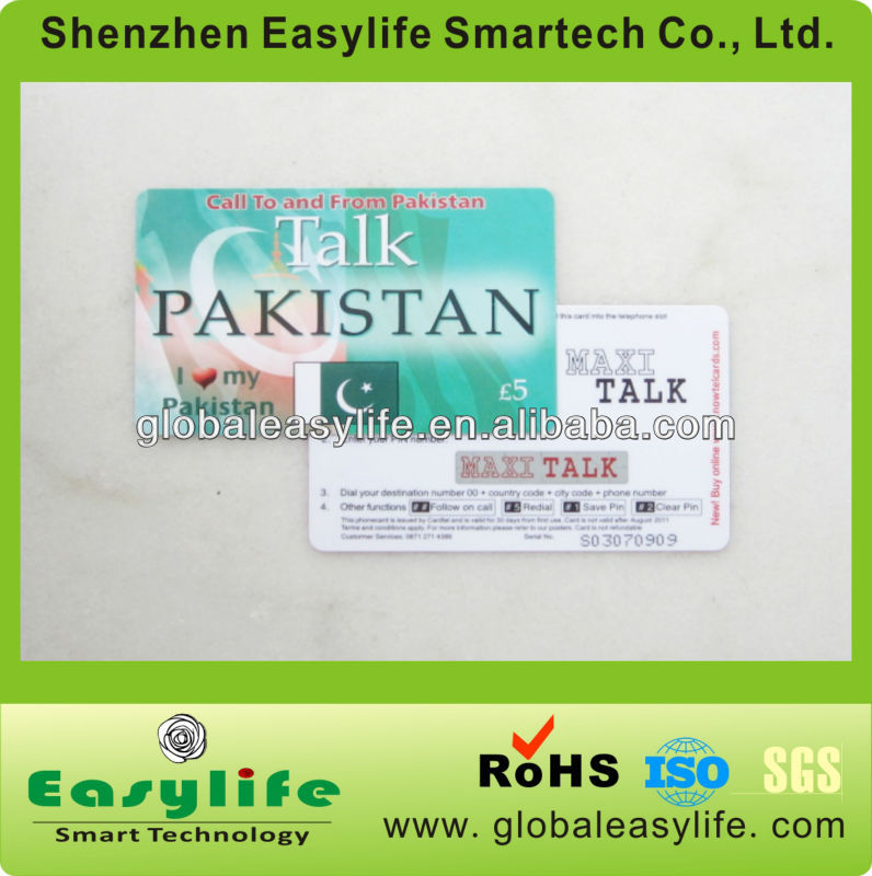Telecom recharge phone card