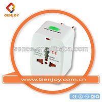 GENGJOY French db9 to usb adapter Travel Adapter Plugs socket delivery,customized, logo printed 120V~250V A0400.00