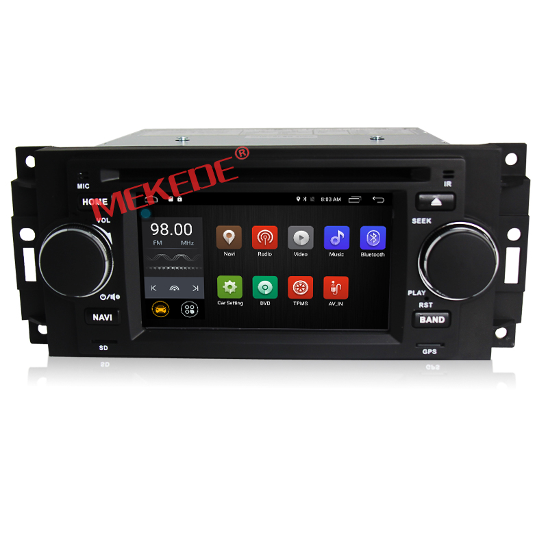 Android 7.1 Car GPS navigation For Chrysler 300C Dodge RAM Jeep Commander Compass Wrangler With DVD player Radio 4G wifi
