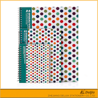 A4 size printed paper pretty school spiral notebook paper