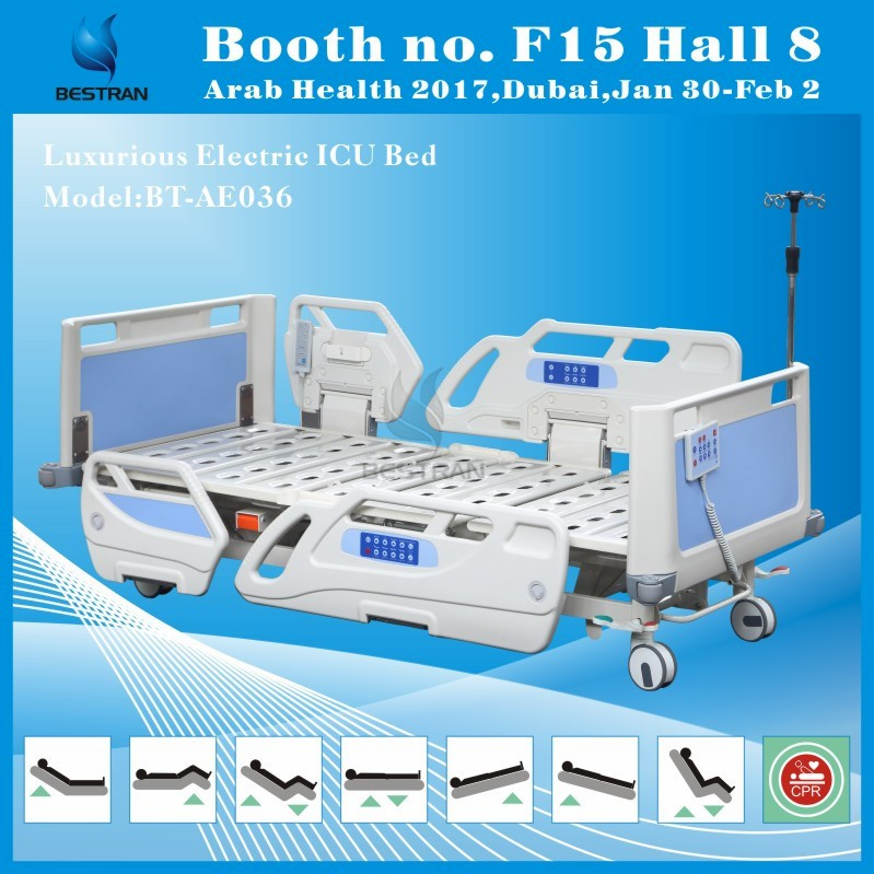 BT-AE036 Luxurious cardiac position electric CPR icu electric hospital recliner chair bed sales