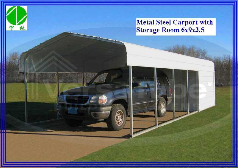 Metal Two Car Portable Garage : High strength metal carport garage for cars buy steel