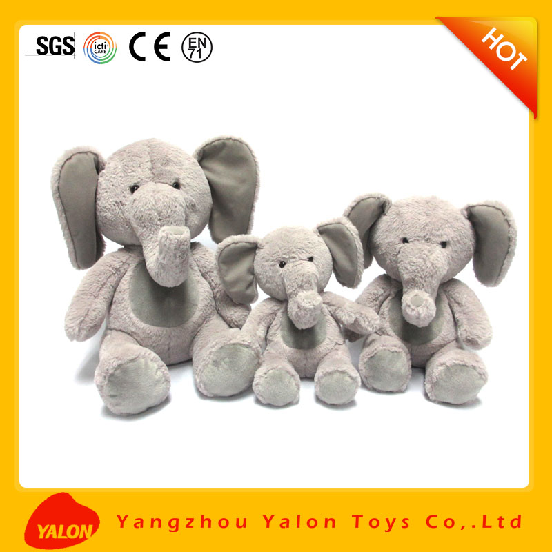 Fondle admiringly elephant plush toy for baby for sale