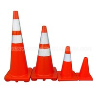 Colored road warning different size triangle pvc traffic cone