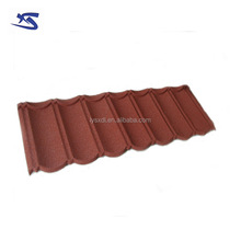 Antique Chinese stone chip coated metal roof tile for villa