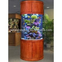 158gallon acrylic fish aquarium or large round fish tank with wood
