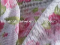 100%polyester printed mesh fabric for garment