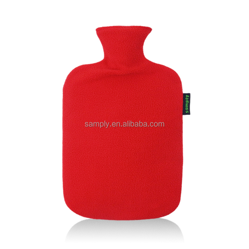 PVC hot water bottle/bag ice bag therapy with red cover