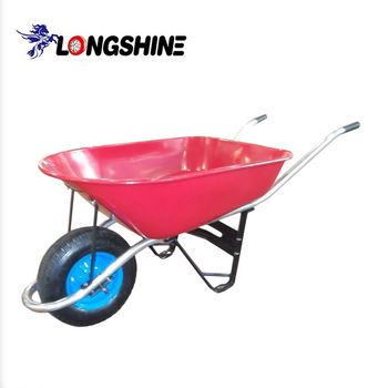 large wheel metal wheelbarrow