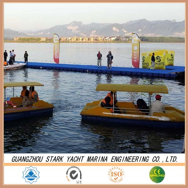 Water Floating platform Plastic safe ship used floating docks sale