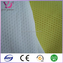 Plain style and 100% polyester material athletic mesh fabric