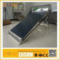 Hot sale portable assured trade homemade solar water heaters vacuum