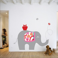 1448 peel & stick self-adhesive elephant baby wall art stickers