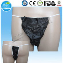 Disposable non-transparent Mens Tanga for SPA and Salon