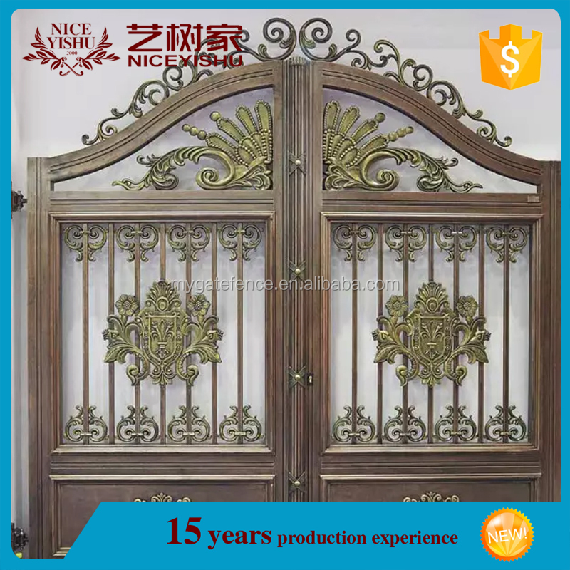 China factory wholesale cheap cast aluminum sliding main gate designs