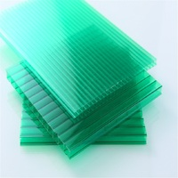 XINHAI Double Wall Greenhouse Roof Panels 6mm Polycarbonate Hollow Sheet Solar Panel Roofing Sheets