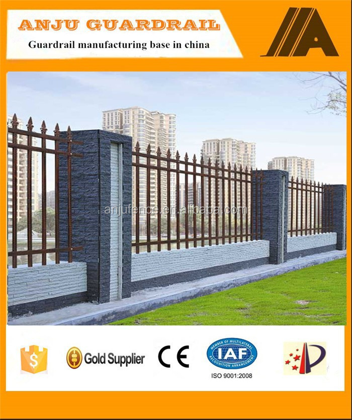 Modern house cast iron fences and gates DK002