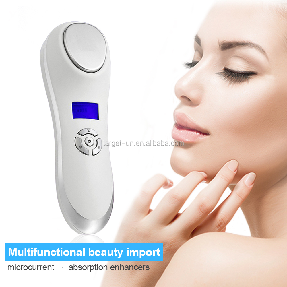2017 newest Skin tightening cool and warm device electric facial massager