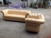 1+2+3 seater leather chesterfield sofa set.