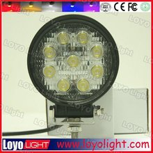 Hot Sale round 1800LM awd 27W LED Work Lamp