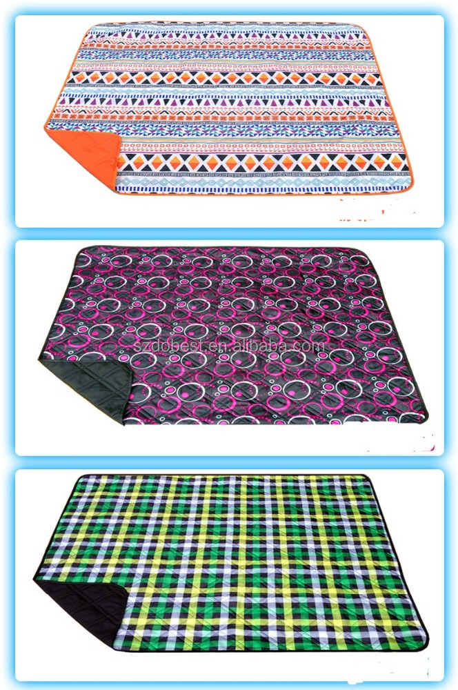 PE Coated paint picnic mat cheap high quality foldable outdoor camping pvc waterproof polar fleece picnic