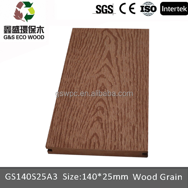Latest new tech new design wpc solid decking wpc flooring anti-uv composite wood plastic decking