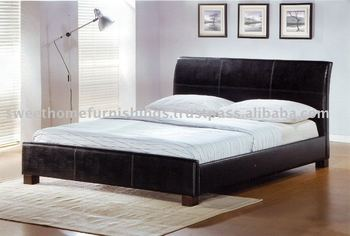 Furniture Bedroom Eden Faux Leather PU Bed / Bedroom beds