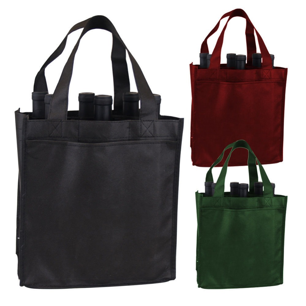 2106 Newest Non woven 6 bottle wine Tote bag