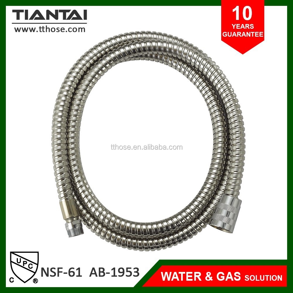 "Home Bathroom 48"" inch Stainless Steel Handheld Flexible Shower Water Hose NEW"