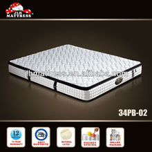 High quality natural latex rolled pocket spring mattress