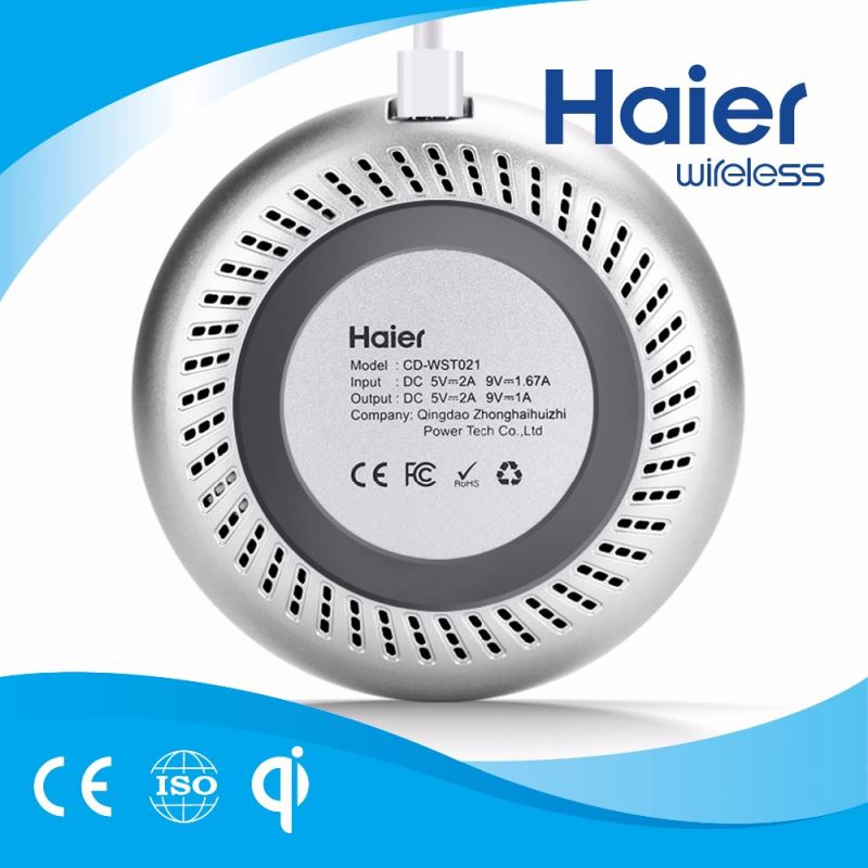 Elegant Haier Universal Qi Wireless Fast Charger for Samsung