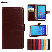 Luxury Flip PU Leather Wallet Mobile phone Cover Case For Huawei honor 7I with Card Holder