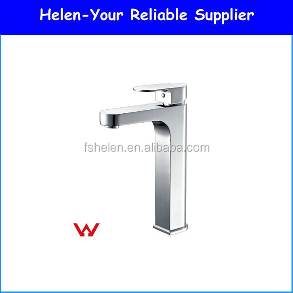 Plastic Basin Tap Chrome Polished Wash Sink Mixer Brass Tap With Watermark Faucet Bathroom Faucet NO.HD4800