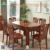 Comfortable Solid Wood Dining Table, Durable Fabric Luxury Dining Table, Wooden Dining Table Designs
