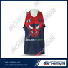 Reversible sublimated mesh fabric basketball jersey uniform