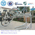 Duplex galvanized steel bicycle rack/double deck bike rack(ISO/ SGS Approved)
