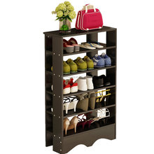 Entry Bamboo Shoe Storage Organizer Cabinet Black Color