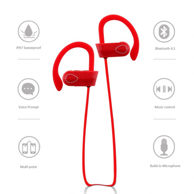 Hot sale V4.1 bluetooth earplug charging via micro usb bluetooth earphone for running RU9