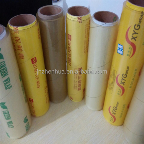 high quality transparent plastic wrap for food wrapping pvc cling film