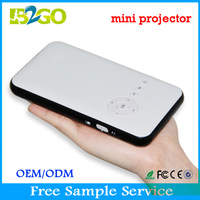 Micro smart projector DLP portable projector wireless HD home mobile phone with the screen WiFi Bluetooth for business use