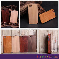 Top Quality Hard Protector durable real cherry wood pear wooden cell phone covers for iphone