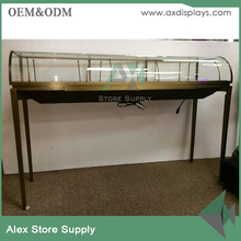 Stainless Steel Curved Jewellery Counter Display For Jewelry Shop Furniture Design