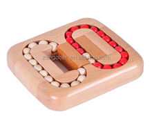 WISDOMTOY 3D Brain Teaser Wooden Ball Maze Puzzles Board Game Educational Toy for Kids and Adults