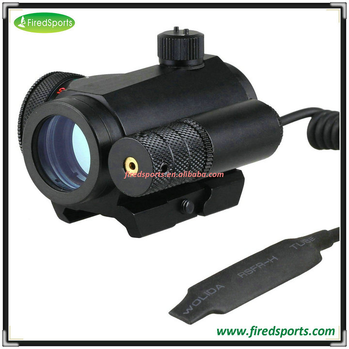 GSP0070-RGL--Hot Sell High Quality Reflex rifle scope optic Red/ Green Dot Scope With Red Laser Scope Sight 2 Switch Picatinny