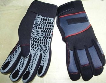 good quality of anti-cutting and hard-wearing mechanic gloves with silicon
