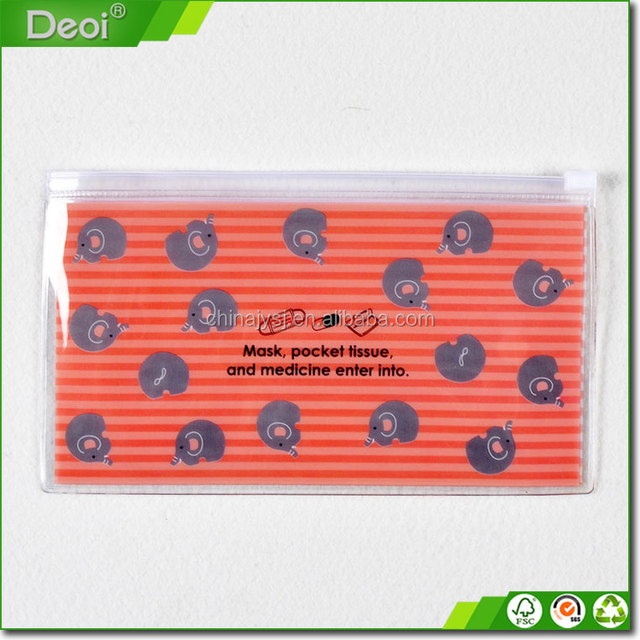 promotional clear plastic cosmetic bag pvc zipper packing bag